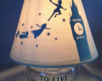 Mini mason jar night light - Peter Pan influenced