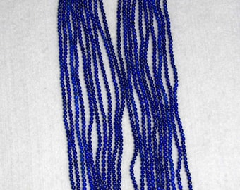 Lapis, Lapis Bead, Smooth Bead, Lapiz Bead, Semi Precious, Natural Stone, Gemstone Bead, Blue Bead, Strand, 2mm