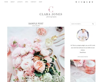 WordPress theme, WordPress template, WordPress theme food, Responsive WordPress Theme, WordPress Feminine Theme, Genesis child theme, Blog