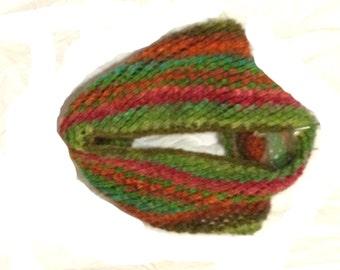 Lace Cowl Handknit Autumn Colors