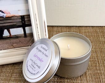 Lavender Candle |  Scented Soy Candle | Bridesmaid Gift | Sister Gift for Mom | Personalized Bridal Shower Favor | Engagement Present