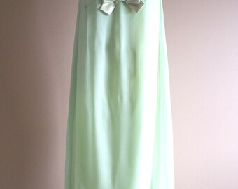 1960's Sea Foam Green Chiffon Dream and Lace One of a Kind Party Dress