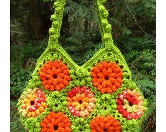 A Garden of Zinnias Bag – PA-211 - Crochet Pattern PDF