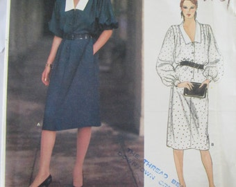 Vogue Paris Original 1140 Misses' 70s Givenchy Loose Fitting Straight Dress Sewing Pattern Size 12 Bust 34