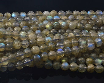 """15.5""""   7MM   Labradorite   Gemstone Round Bead"""