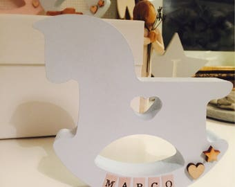 Baby Loss Gift, Personalised Rocking Horse, Angel Baby Gift, Miscarriage Gift, Baby Memorial, Baby Remembrance, New Born Gift