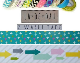 "Set of 2 rolls of washi tape 4 ""La De Dah"" decor scrapbooking (ref.110) *."