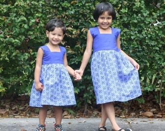 Matching Sister Dress, Girls Summer Dress, Matching Sister outfit, Girls Cotton Dress