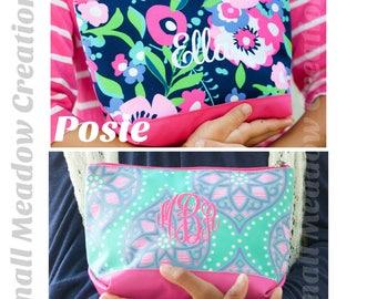 ACCESSORY BAG, Monogrammed Cosmetic Bag, Zipper Bag, Travel Bag, Bridesmaid Gift, Make-up bag, Cosmetic Bag, Girl's Monogrammed Bag