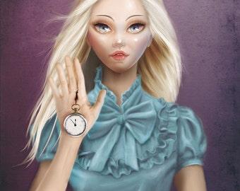 ALICE (Cameo Portrait) - PRINT - Open Edition - 17x24 cm unframed - ALICE (Cameo Portrait)