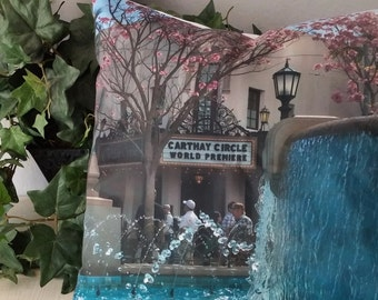 Carthay Circle in Disney CA adventure-land pillow