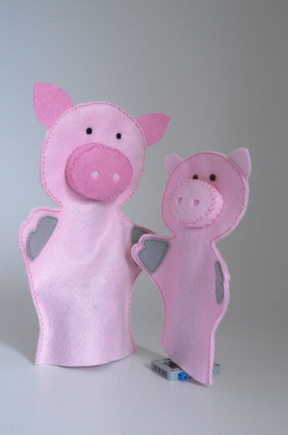 Marionetas de cerdo marionetas títeres para niños juego de