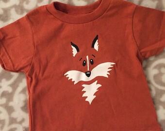 Fox Tshirt, Fox Shirt, Orange Fox Shirt, Kids Fox Shirt