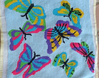Needlepoint  Butterfly Picture