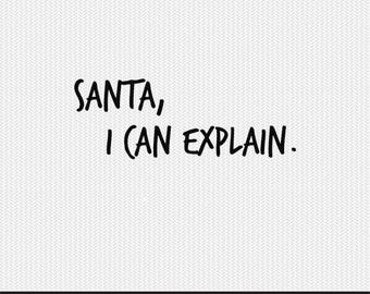 dear santa i can explain svg dxf jpeg png file stencil monogram frame silhouette cameo cricut clip art commercial use
