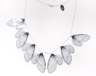 Cicada wing bib necklace
