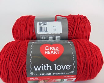holly berry - Red Heart With Love worsted weight yarn  2042