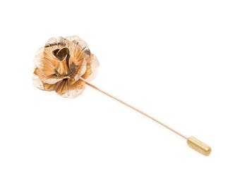 MORÉ de - Golden Flower lapel pin