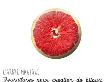 2 cabochons glue grapefruit 20/18/16/14/12 mm glass to choose from-ref 1186
