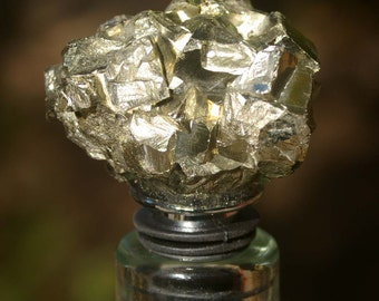 Pyrite Wine and Bottle Stopper - Wine Bottle, Wine, Stopper, Bottle Stopper