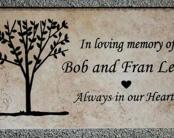 "Tree Dedication/memorial plaque. Maintenance Free 12""x6""x3/8"" """