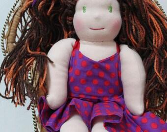 style waldorf steiner, 32 cm, fabric doll, doll handmade