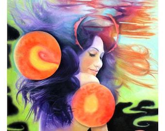Lady in Space, Fine Art Print