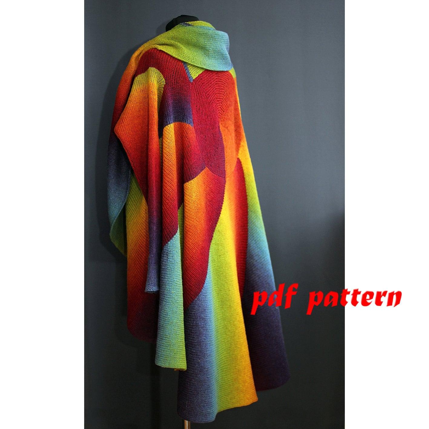 Oversize knitting pattern Oversize extra large sweater Wool