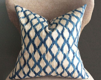 Blue Pillow Cover, cushion covers, Ikat pillow, throw pillow,  Throw pillow covers.
