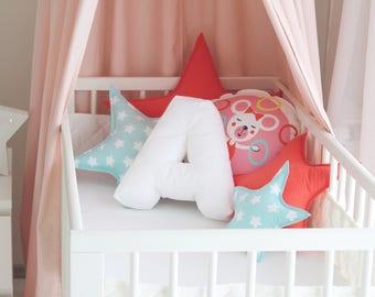 Pillow letter / Alphabet pillow / Soft letter pillow / Initial pillow /Decorative pillow / Nursery decor / Kids room