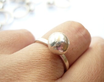 sterling silver ball ring 0,9