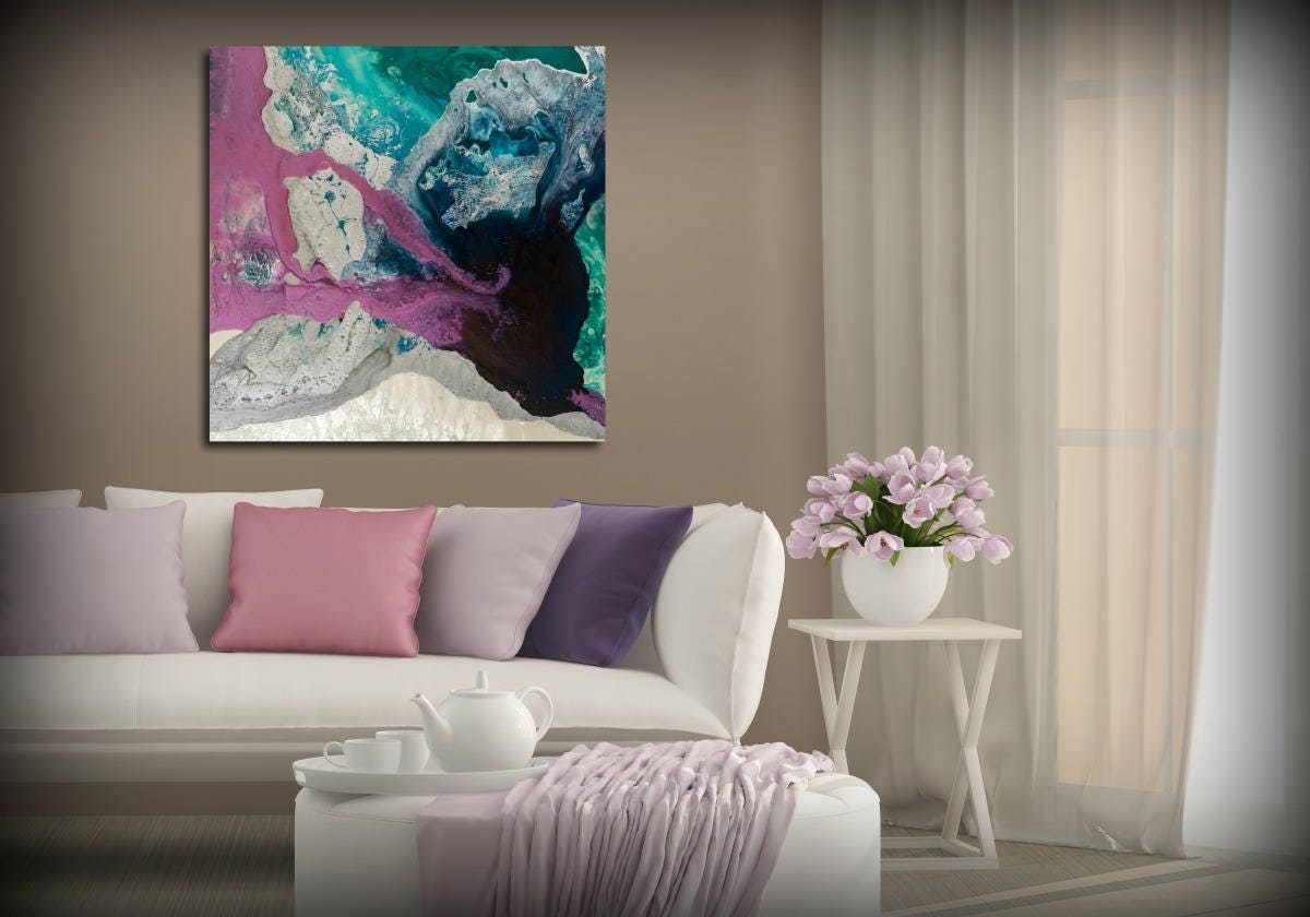 wall decor apartment decor above bed art master bedroom print purple art extra large wall art gift for her prints on canvas fine art