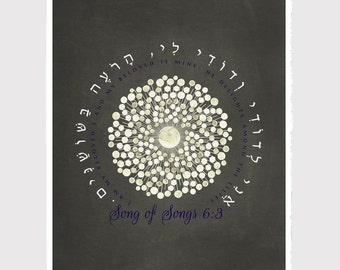 I am my beloved's, and my beloved is mine Wedding Gift Print - Anniversary Gift, Wedding Gift poster Song of Songs