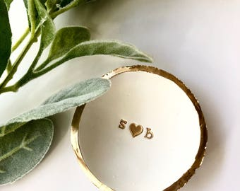 Wedding Ring Dish, Wedding Gift,  Ring Dish, Engagement Gift, Bridal Shower Gift, Personalized Initials