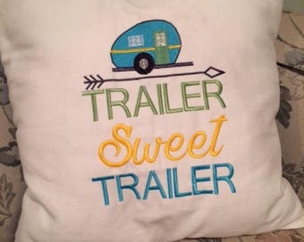 Trailer sweet trailer pillow