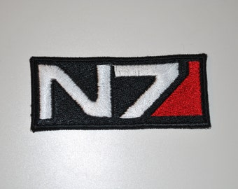 Mass Effect N7 Patch - Fully Embroidered Premade Emblem for Cosplay Costumes / Accessories!
