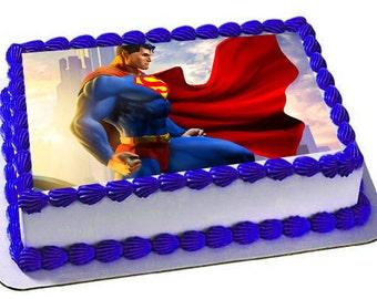 Superman cake topper Etsy
