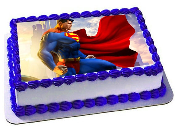 Superman Edible Cake Topper Superman Frosting Sheet Superman