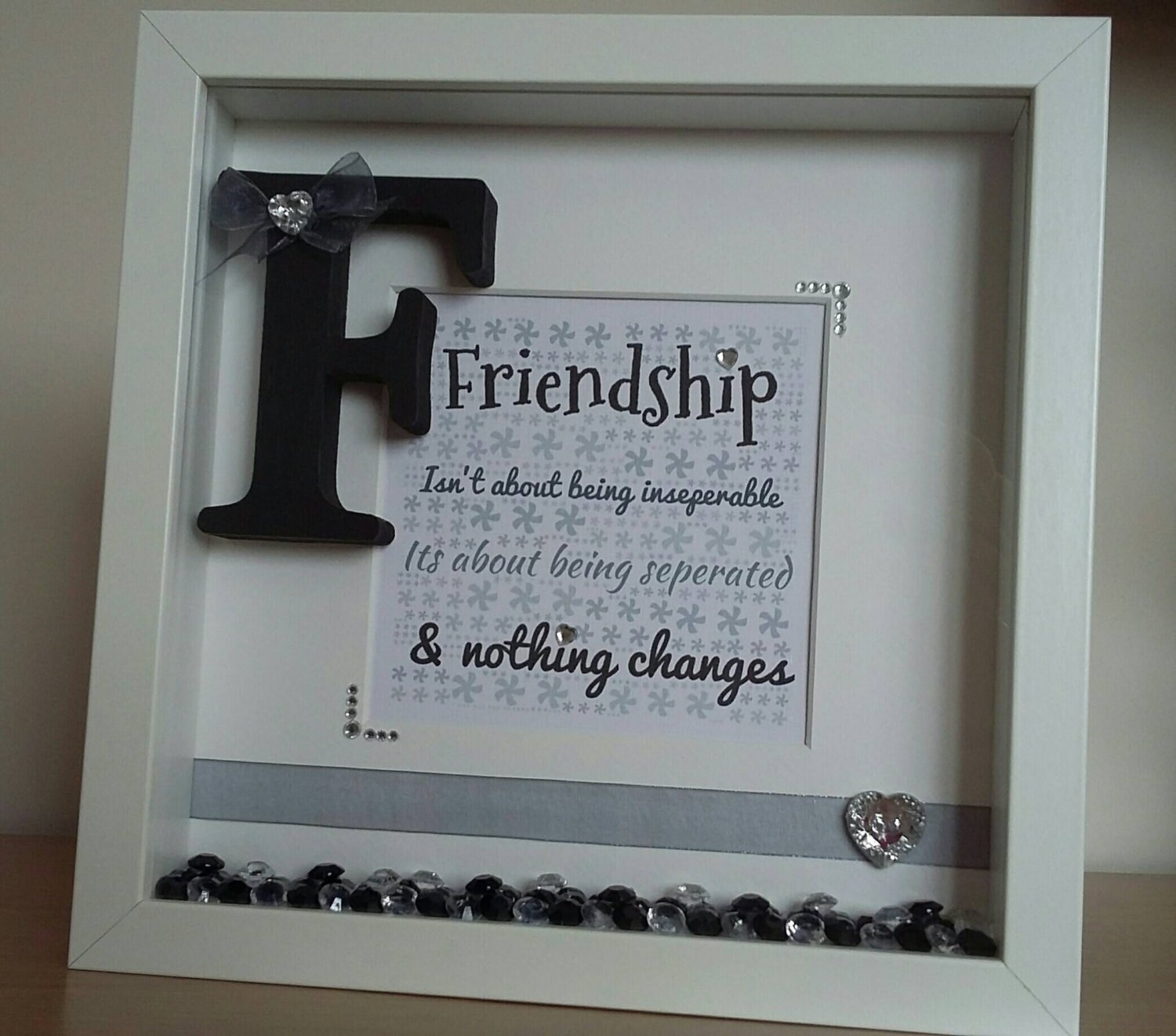 Handmade personalised friend friendship quote gift frame word 4317 jeuxipadfo Gallery