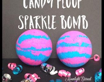 Candy Floof Bath Bomb - Sparkle Bomb - Cotton Candy Bath Bomb - Cotton Candy - Handmade Bath Bomb