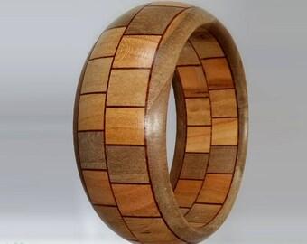 Bracelet wood cherry Walnut