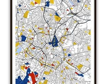 Birmingham map Etsy