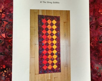 Sunset table runner pattern
