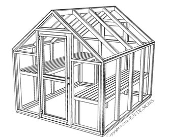 "6'-10"" x 8'-0"" Greenhouse Plans - PDF Version"