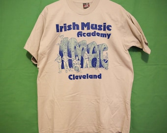 90's Cleveland Irish Music Academy Large IMAC St. Patty's Irish Ireland Fruit Of The Loom Best Vintage Retro Made in USA