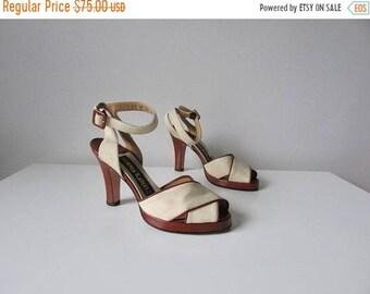 SALE vintage platform sandals