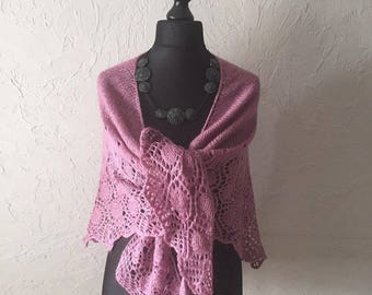 Hand knitted shawl