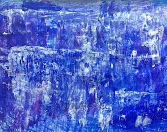 Starry night - original artwork acrylic on paper