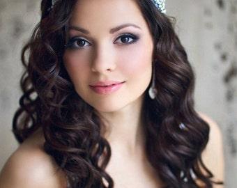 Wedding headband Wedding headpiece Bridal headpiece rhinestone Bridal crystal headbands Bridal rhinestone headband bride headpiece silver