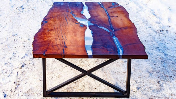 Items Similar To Wood Slab Table Large Dining Table